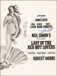 LAST OF THE RED HOT LOVERS PLAY CAST - SHOW BILL SIGNED CO-SIGNED BY: JAMES JIMMY COCO, DORIS ROBERTS