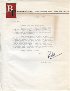 ROBERT BOB DOWNING - TYPED LETTER SIGNED 04/17/1970
