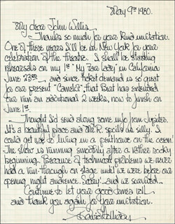 DAVID HOLLIDAY - AUTOGRAPH LETTER SIGNED 05/09/1980