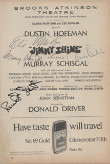 JIMMY SHINE PLAY CAST - SHOW BILL SIGNED CO-SIGNED BY: ELI MINTZ, PAMELA PAYTON-WRIGHT, DAVID SABIN, MURRAY SCHISGAL