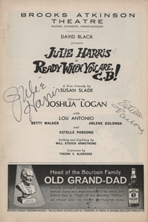 READY WHEN YOU ARE,C.B.! PLAY CAST - SHOW BILL SIGNED CO-SIGNED BY: ESTELLE PARSONS, JULIE HARRIS