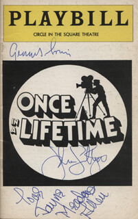 ONCE IN A LIFETIME PLAY CAST - SHOW BILL COVER SIGNED CO-SIGNED BY: JOHN LITHGOW, GEORGE S. IRVING, JAYNE MEADOWS