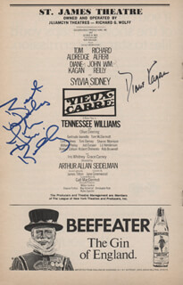 VIEUX CARRE PLAY CAST - SHOW BILL SIGNED CO-SIGNED BY: JOHN WILLIAM REILLY, DIANE KAGAN