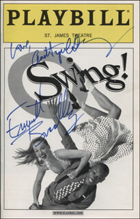 SWING! PLAY CAST - SHOW BILL COVER SIGNED CO-SIGNED BY: ANN HAMPTON CALLAWAY, EVERETT BRADLEY