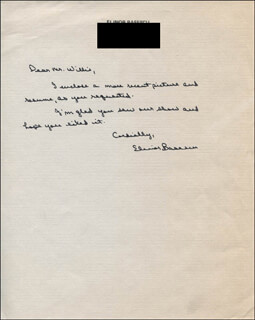 ELINOR BASESCU - AUTOGRAPH LETTER SIGNED