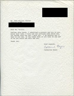CATHERINE BYERS - TYPED LETTER SIGNED 02/21/1974