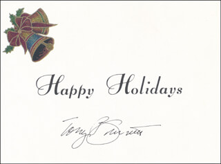 TONY BENNETT - CHRISTMAS / HOLIDAY CARD SIGNED