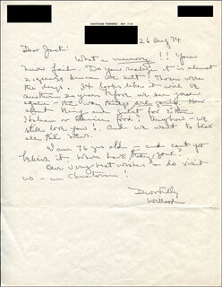 WILLARD BEECHER - AUTOGRAPH LETTER SIGNED 08/26/1974