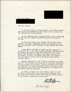 SAM A. HANNA - TYPED LETTER SIGNED 10/11/1969