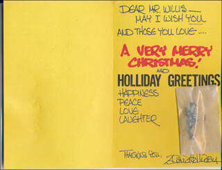 DAVID HOLLIDAY - CHRISTMAS / HOLIDAY CARD SIGNED
