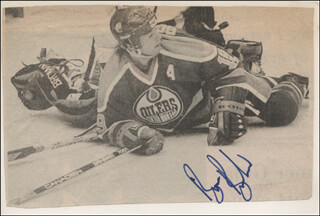 BRUCE BOUDREAU - NEWSPAPER PHOTOGRAPH SIGNED