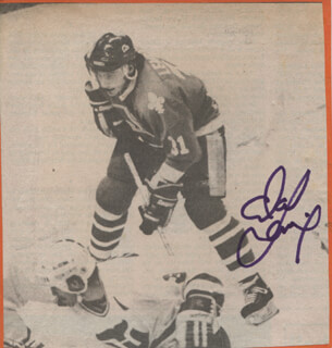 CLAUDE LEMIEUX - NEWSPAPER PHOTOGRAPH SIGNED