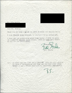 BILL STEELE - TYPED LETTER SIGNED 03/07/1969