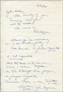 ABBY LEWIS - AUTOGRAPH LETTER SIGNED 06/05/1975