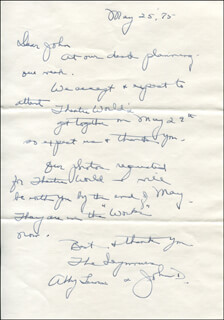 ABBY LEWIS - AUTOGRAPH LETTER SIGNED 05/25/1975