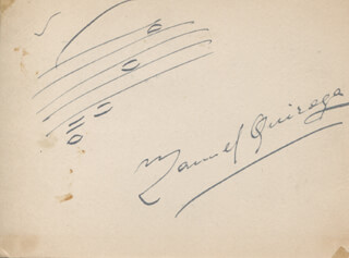MANUEL QUIROGA - AUTOGRAPH MUSICAL QUOTATION SIGNED