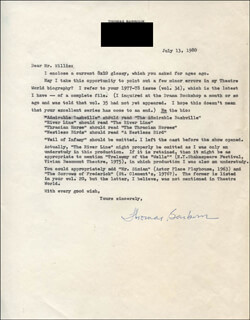 THOMAS BARBOUR - TYPED LETTER SIGNED 07/13/1980