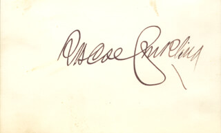 ROSCOE CONKLING - AUTOGRAPH  - HFSID 3152