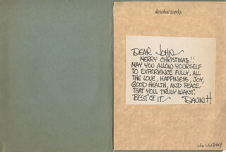 DAVID HOLLIDAY - AUTOGRAPH LETTER SIGNED