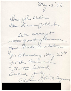 ABBY LEWIS - AUTOGRAPH LETTER SIGNED 05/13/1976