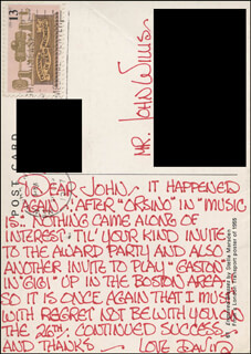 DAVID HOLLIDAY - AUTOGRAPH LETTER SIGNED CIRCA 1977