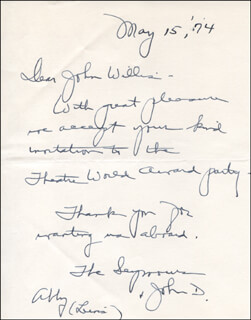 ABBY LEWIS - AUTOGRAPH LETTER SIGNED 05/15/1974
