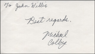 MICHAEL COLBY - AUTOGRAPH NOTE SIGNED