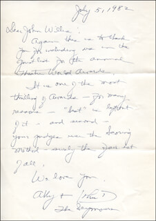 ABBY LEWIS - AUTOGRAPH LETTER SIGNED 07/05/1982