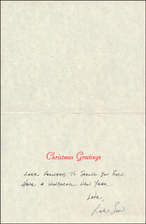RICHARD SEER - CHRISTMAS / HOLIDAY CARD SIGNED
