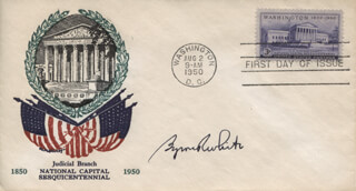 ASSOCIATE JUSTICE BYRON R. WHITE - FIRST DAY COVER SIGNED