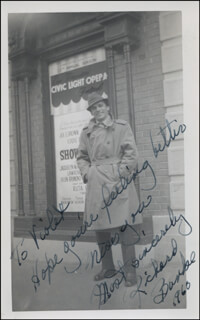RICHARD BANKE - AUTOGRAPHED INSCRIBED PHOTOGRAPH 1960