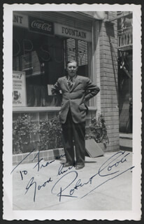 ROBERT COOTE - AUTOGRAPHED INSCRIBED PHOTOGRAPH
