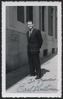 EARL HOLLIMAN - AUTOGRAPHED INSCRIBED PHOTOGRAPH