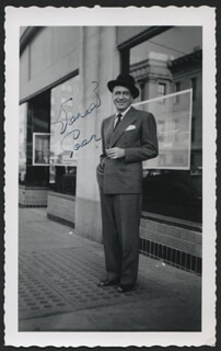 DONALD COOK - AUTOGRAPHED SIGNED PHOTOGRAPH