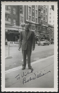 BOB WILLIAMS - AUTOGRAPHED INSCRIBED PHOTOGRAPH