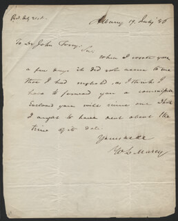 WILLIAM L. MARCY - AUTOGRAPH LETTER SIGNED 07/19/1836