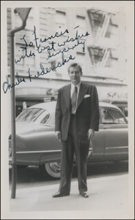 CHARLES E. FREDERICKS - AUTOGRAPHED INSCRIBED PHOTOGRAPH