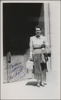 MARY MCCARTY - AUTOGRAPHED INSCRIBED PHOTOGRAPH