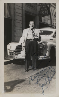 JACK POWELL - AUTOGRAPHED INSCRIBED PHOTOGRAPH