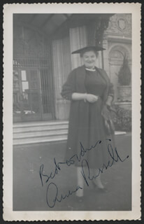 ANNA RUSSELL - AUTOGRAPHED SIGNED PHOTOGRAPH