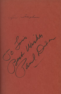 PAUL DIXON - INSCRIBED BOOK SIGNED
