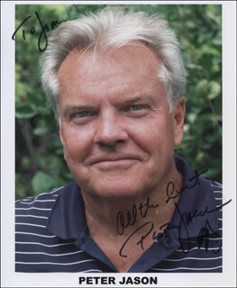 PETER JASON - AUTOGRAPHED SIGNED PHOTOGRAPH
