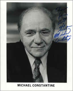 MICHAEL CONSTANTINE - AUTOGRAPHED INSCRIBED PHOTOGRAPH