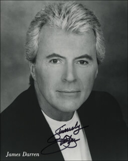 JAMES DARREN - AUTOGRAPHED SIGNED PHOTOGRAPH