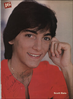 SCOTT BAIO - INSCRIBED MAGAZINE PHOTO SIGNED