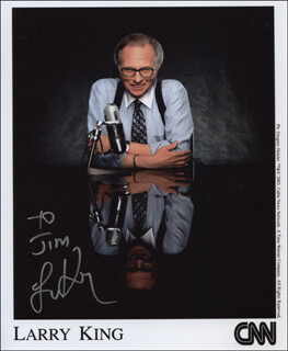 LARRY KING - AUTOGRAPHED INSCRIBED PHOTOGRAPH