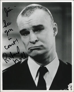 RICHARD MOLL - AUTOGRAPHED INSCRIBED PHOTOGRAPH