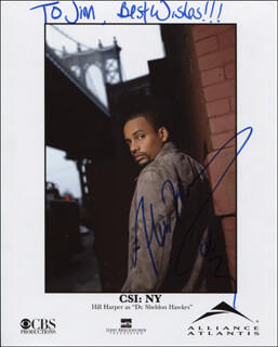 HILL HARPER - AUTOGRAPHED INSCRIBED PHOTOGRAPH