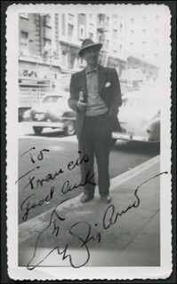 SIG ARNO - AUTOGRAPHED INSCRIBED PHOTOGRAPH