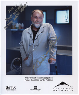 ROBERT DAVID HALL - AUTOGRAPHED INSCRIBED PHOTOGRAPH